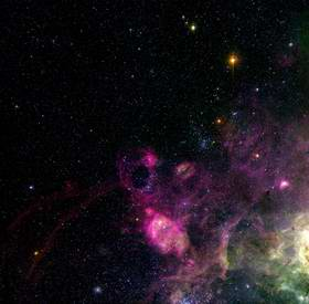 Turbulent and Colourful LMC Region Imaged from La Silla 1