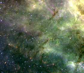 Turbulent and Colourful LMC Region Imaged from La Silla 2