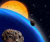 Periodic Dimming of Bright Starlight Reveals Distant Planet