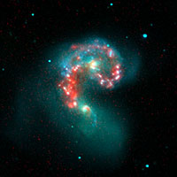 Scene of Galactic Collision