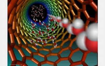 Fluids race through nearly frictionless carbon nanotubes