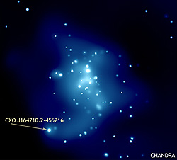 The tricky neutron star sits inside a cluster of stars named Westerlund 1. The star is rapidly spinning and approximately 12 mil