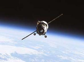 An unpiloted Progress supply vehicle approaches the International Space Station. Credit: NASA
