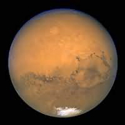 Mars in 2003, from the Hubble Space Telescope