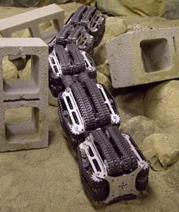 Snake-like robot conquers obstacles