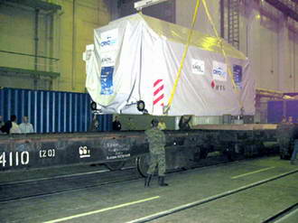 CryoSat arrives safely at launch site in Russia