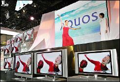 LCD monitors on display in Makuhari, suburban Tokyo