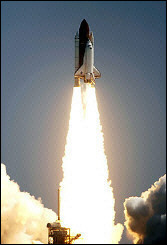 Space Shuttle Discovery lifts-off