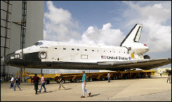 US space shuttle Atlantis at the Kennedy Space Center