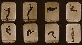 Athlete, Backwards Somersault, 1879, plate 104 from the series Attitudes of Animals in Motion