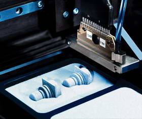 Printing of components with functional ink