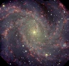 Gemini North GMOS image of the 'Fireworks Galaxy' NGC 6946 in the Constellation of Cepheus