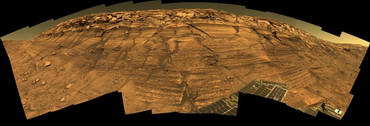 NASA's Opportunity rover captured this view of