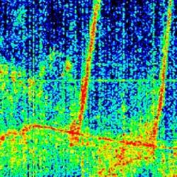 Image depicting radio emissions at Saturn