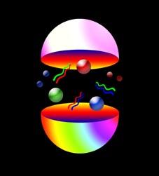 The proton consists of three quarks