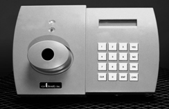 High security retinal scanner with keypad for extra security