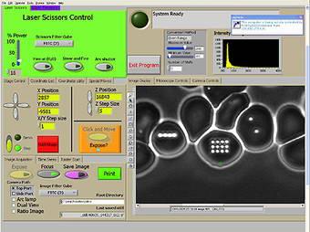 RoboLase control panel