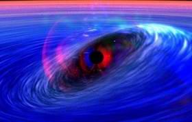 Spacetime wave orbits black hole