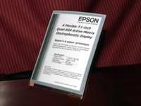 Epson Develops A6-Size Electronic Paper with World's Highest Resolution Using Plastic Substrate