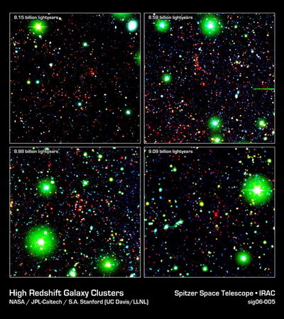 Spitzer Sees 9 Billion Years Back in Time