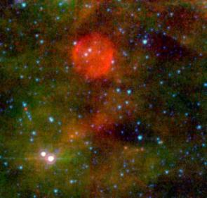 Spitzer Spies Remnants of a Shy Star