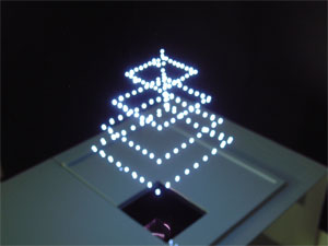 3d object displayed using a 3d image spatial drawing device credit