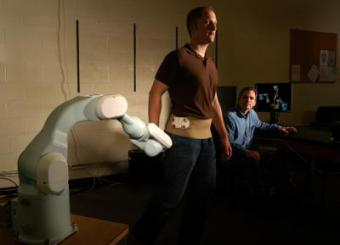 For orthopedic injuries, a robot that follows patients as they move