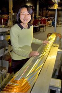 Mei Bai with a RHIC