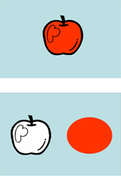 How Red Apples Mark a Cognitive Leap Forward