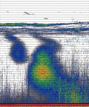 Acoustic image of a methane plume