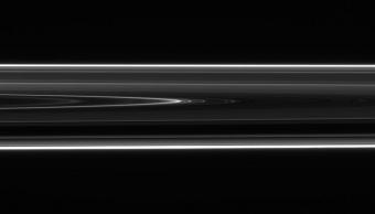 Saturn's Rings Show Evidence of a Modern-Day Collision