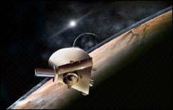 NASA artist\'s concept painting shows the proposed New Horizons Spacecraft