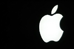 Picture shows the logo of US Apple computer group