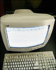 Computer connected to the internet