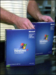 Copies of Microsoft\'s Windows XP operating system