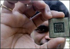 An Intel chip