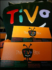 TiVo boxes on display