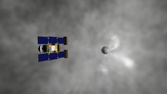 Artist's impression of Stardust's encounter with Comet Wild 2. Credit: NASA