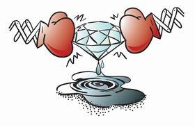 Z machine melts diamond to puddle