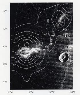 A magnetic map of Reiner Gamma obtained by NASA's Lunar Prospector spacecraft in the 1990s