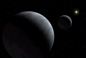 Pluto-Charon system (artist's impression)