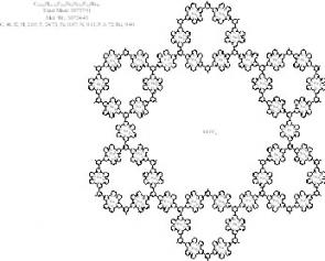 Chemical structure of the fractal molecule. Art by: Courtesy Saw-Wai Hla