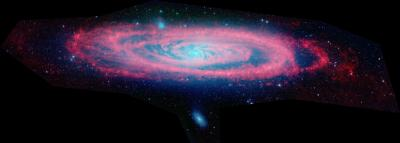 Andromeda Adrift in Sea of Dust in New Spitzer Image