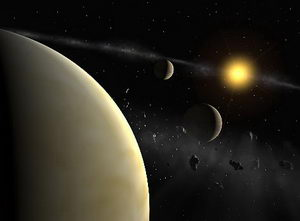 Planetary System Around HD 69830 (Artist's Impression)