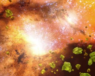 Spitzer Finds Violent Galaxies Smothered in 'Crushed Glass'