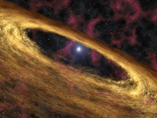 Spitzer Finds Hints of Planet Birth Around Dead Star
