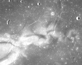 The Reiner Gamma swirl, photographed by the ESA's SMART-1 lunar orbiter