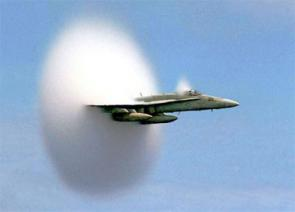 Sonic shock produced by supersonic aircraft