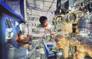 The SPEAR3 beamline. Image courtesy of Peter Ginter