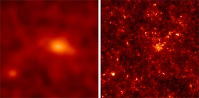 Very high frequency radiation makes dark matter visible